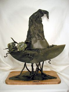 """Steel Witch Hat """"Bruja De Acero"""" (Witch of Steel) ~ Gotta love this!"""