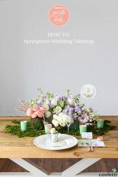 DIY Friday: Springtime Wedding Tabletop   Confetti.co.uk