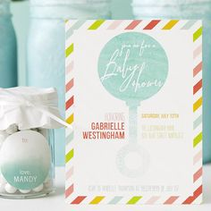 Start with this adorable mix of playful stripes and bright colors for your lovely baby shower.
