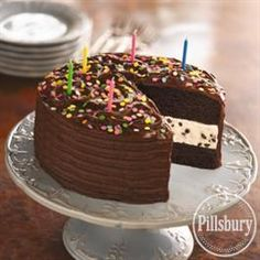 Chocolate Chip Ice Cream Cake from Pillsbury® Baking
