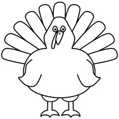 Turkey Easy Thanksgiving Coloring Pages Printables