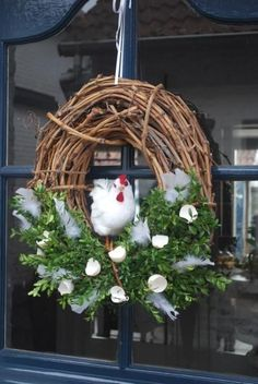 Christmas Diy, Christmas Wreaths, Summer Wreath, Easter Crafts, Grapevine Wreath, Tablescapes, Rooster, Seasons, Ornaments