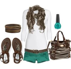 Chocolate Bag and Shorts Perfect Spring Outfit #Vintage #SPRING #STYLES