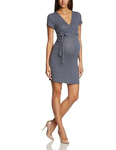 Klara Faux Wrap Style Maternity Dress Blue & White -  Black - Schwarz (Black Iris 19-3921 TCX) - 14 (Manufacturer size: Large ) Mamalicious http://www.amazon.co.uk/dp/B00JKET5O4/ref=cm_sw_r_pi_dp_83k1ub0VWE13N
