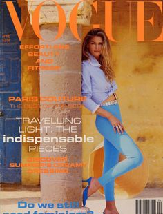 Donna Bunte, photo by Eric Boman, Vogue UK, April Vogue Magazine Covers, Fashion Magazine Cover, Fashion Cover, Vogue Covers, 90s Fashion, Vogue Uk, Angie Everhart, Tatjana Patitz, Dior