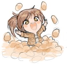 Sasha Braus from Attack On Titan. Walk the road of potatoes Sasha, and eat them.