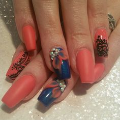 Acrylic nails by Sonia @ Nailbar Touch Spa & Salon in Kissimmee, Florida