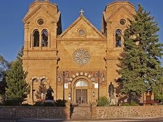 St. Francis Cathedral, Santa Fe, New Mexico. I  attended Christmas eve mass here in 2005 it was magical with 6 inches of snow on the ground ..