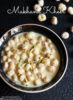makhana kheer recipe rich and creamy.phool makhana kheer is easy to make and tastes delicious.how to make phool makhana kheer recipe.