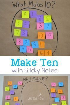 Fun Addition Math Facts Game for kids! Teach your kids how to play make Ten with Sticky Notes! This is a fun math game for kids! This game will make learning math fun for everyone! Try this great learning game today! Maths Guidés, Teaching Math, Math Classroom, Teaching Tips, Year 1 Maths, Primary Classroom Displays, Teaching Numbers, Math Fractions, Teaching Spanish