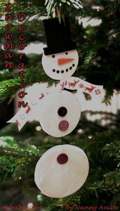 Hanging snowman christmas tree decoration.