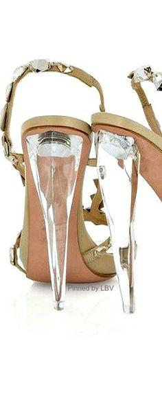 McQueen Crystal Embellished Sandals | LBV ♥✤