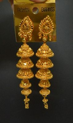 22K Gold Jhumkas | 22k Gold fancy Jhumka Earring for Meenajewelers ...