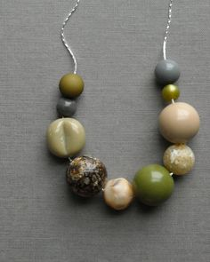 Makes me think of Mom...earth pickle necklace  vintage lucite and by urbanlegend on Etsy, $28.00