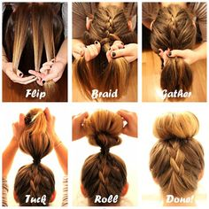 Braid into Sock Bun