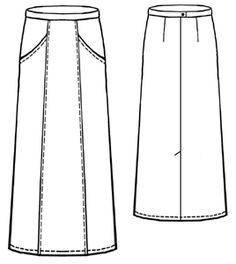 knee length.  love the pockets.     #5025 Skirt with diagonal pocket. free pattern from Modern Sewing Patterns