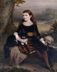 Clement Burlison - Alice Frances Theodora Wythes (1875–1957), Marchioness of Bristol, as a Young Girl, 1886 National Trust Ickworth, Suffolk