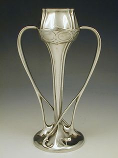 Liberty & Co. Pewter vase from the 'Tudric' range, England, 1905.