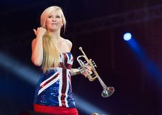 Alison Balsom performs on stage at BBC Proms in the Park at Hyde Park on September 12 2015 in London England Proms In The Park, Trumpet Mouthpiece, Silver Trumpet, Brass Instrument, Trumpet Players, Trumpets, Rhythm And Blues, Hyde Park, London England