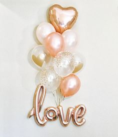 LOVE is Sweet! :) You can get so creative with this balloon! It is a one piece Centerpiece all on its own! Perfect for a photo prop as an Engagement Photo, a Shower Decoration & More! THIS IS AN AIR FILL ONLY BALLOON, it will NOT FLOAT even if helium is added! Listing includes: 1 ROSE
