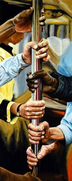 "Saatchi Art Artist Socrates Rizquez; Painting, ""New York #23"" #art"