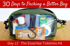 Day 17:  The Essential Toiletries Kit