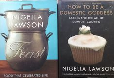 Nigella Lawson Cookbooks X2 How to be a Domestic Goddess + Feast Baking Holidays