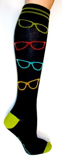 Sunglasses Knee High Socks