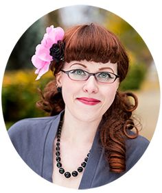 """super cute """"double layer"""" bangs, are probably freshly cut - Jessica Cangiano, ChronicallyVintage.com"""