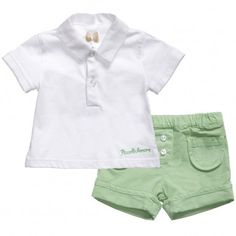 Baby Boys Cotton Polo Shirt and Shorts Set