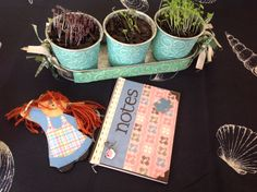 Mixed media books, key rings and pot plants by @heather8532