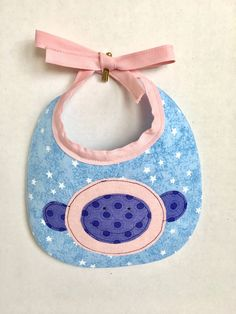 Baby bib-Baby Girl Bib-Monkey Baby Bib-Drool Bib-Dribble Bib-Baby Shower Bib-Baby Gift-Adjustable Bib-Newborn Baby-Newborn Gift by stitchininstilettos on Etsy