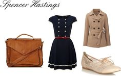 """""""Spencer Hastings (Troian Bellsario) Inspired Look"""" by rebecca-fitzpatrick on Polyvore"""