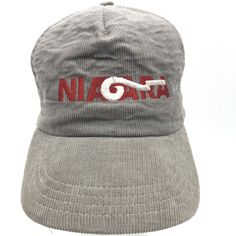 df2e23cd0e3 Niagara Red White Gray Corduroy Snapback Baseball Cap Hat Adjustable