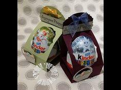 "Vidéo-Tuto ""Présentoir Oeuf Kinder"" par Coul'Heure Papier - YouTube Scan N Cut, Punch Board, Stampin Up, Big Shot, Snow Globes, Christmas Cards, Paper Crafts, Lettering, Paper Boxes"