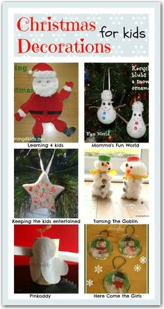 Christmas decorations for kids to give as gifts