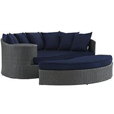 Modway Furniture Modern Sojourn Outdoor Patio Daybed in SunbrellaТЎ EEI-1982-CHC