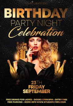 The surprising Birthday Party Night Free Psd Flyer Template – Free Psd Within Birthday Party Flyer Templates Free photograph below, … Graphic Design Flyer, Creative Poster Design, Flyer Design, Poster Designs, Birthday Flyer, Late Birthday, Happy Birthday, Dj Party, Party Flyer