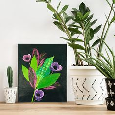 original artwork floral collage with leaves poppies and paper weaving on canvas - green, pink purple Paper Weaving, Cut Canvas, Pink Abstract, Kids Prints, Patterns In Nature, Australian Artists, Tropical Leaves, Lovers Art, Vintage Posters