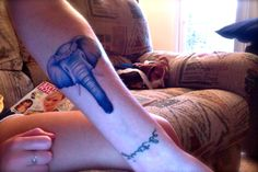 My newest tattoo #elephant #tattoo #ink #feminine #forearm #flowers #arm tattoo