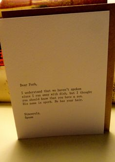 A funny card to send!