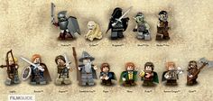 Lord of the Rings characters in lego form. I NEED THE PRECIOUS!!!!!!! :-D