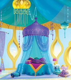 Shine's room in Shimmer and Shine is the bedroom any kid would wish for.
