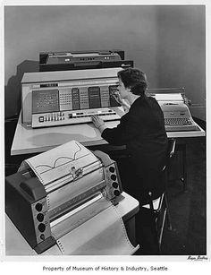 IBM 1620, love this picture! #IBM #vintage #computers
