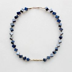 Lapis Lazuli & Brass Necklace from The Vamoose... Going on my wishlist!