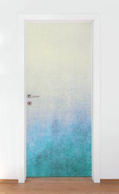 Wallpaper Door, Wallpaper Ceiling, Bold Wallpaper, Painting Wallpaper, Geometric Wallpaper, Self Adhesive Wallpaper, Peel And Stick Wallpaper, Painted Bedroom Doors, Painted Doors