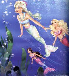 Barbie in A Mermaid Tale 2 Disney Princess Art, Disney Princess Pictures, Disney Pixar, Princess Charm School, Mermaid Cartoon, Barbie Hairstyle, Barbie Drawing, Barbie Fairytopia, Barbie Cartoon
