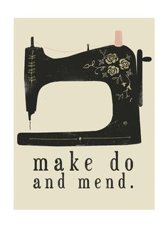 Make Do And Mend Digital Print by clareowendrawing on Etsy