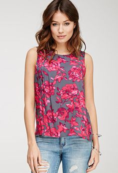 Floral Print Woven Top | Love21 - 2000099270