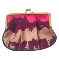 This funky pleat coin purse is made from cute Japanese woodland animals forest scene fabric. Black piping runs along the bottom of the coin purse for an extra design feature. Cute Japanese, Woodland Animals, Deer, Pony, Coin Purse, Scene, Purses, Fabric, Wallets